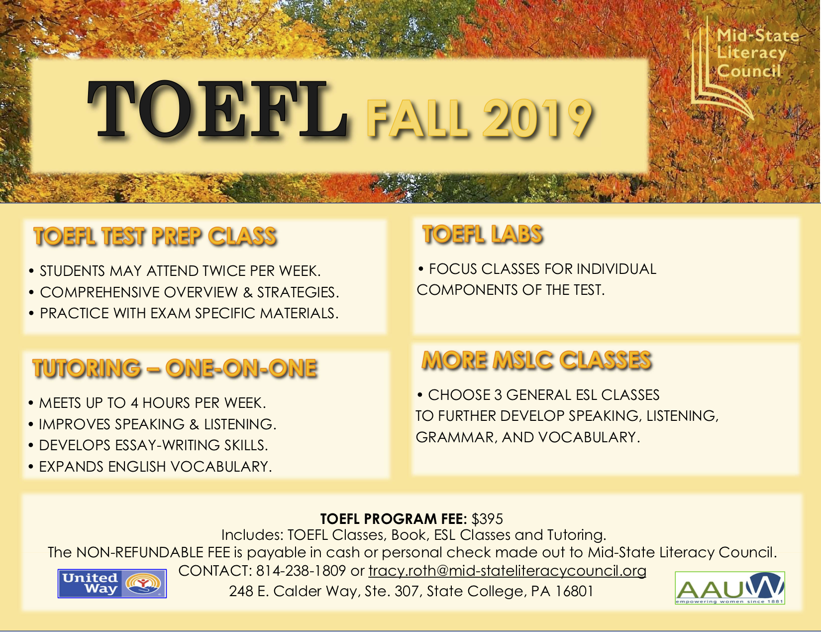 TOEFL - Mid-State Literacy Council
